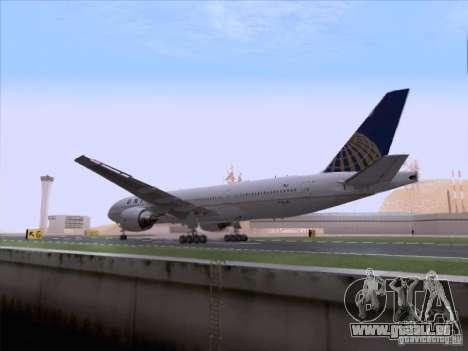 Boeing 777-200 United Airlines pour GTA San Andreas vue intérieure