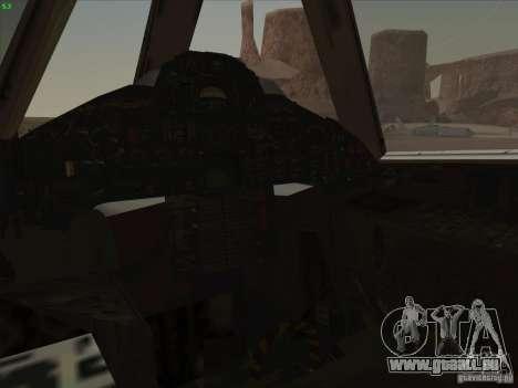 YF-12A pour GTA San Andreas vue de dessous