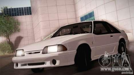 Ford Mustang SVT Cobra 1993 pour GTA San Andreas vue de dessus