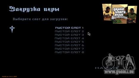 Nouveau menu de CatVitalio pour GTA San Andreas quatrième écran