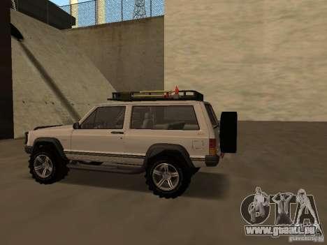 Jeep Cherokee Sport pour GTA San Andreas vue de droite