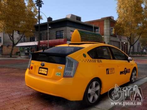 Toyota Prius NYC Taxi 2013 für GTA 4 rechte Ansicht