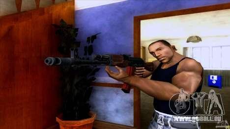 AK-74 pour GTA San Andreas deuxième écran