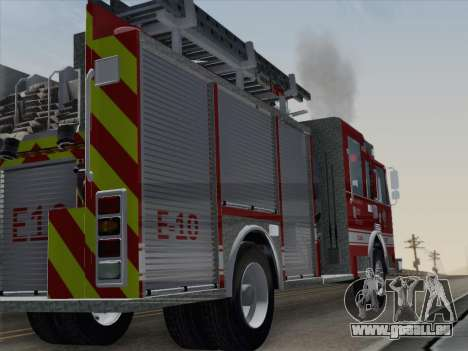 Pierce Saber LAFD Engine 10 pour GTA San Andreas vue de droite