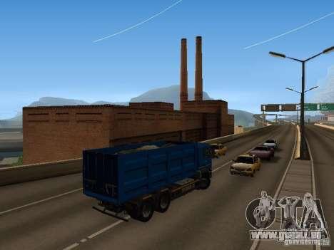 MAN TGA 28 430 PALIFT pour GTA San Andreas vue intérieure