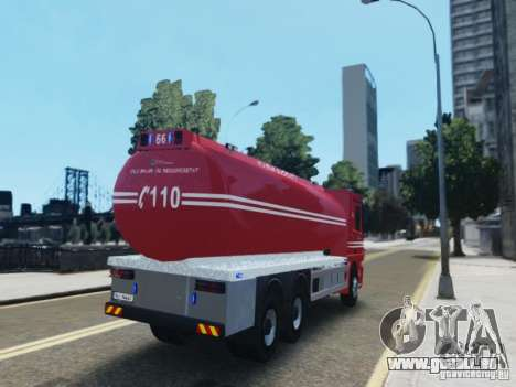 Mercedes-Benz Vanntankbil / Water Tanker für GTA 4 hinten links Ansicht
