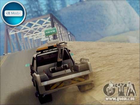 New Towtruck pour GTA San Andreas vue de droite