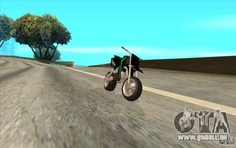 Black Rockstar Moto Cross für GTA San Andreas