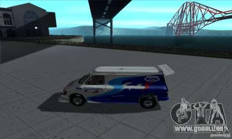 Ford Transit Supervan 3 2004 für GTA San Andreas zurück linke Ansicht