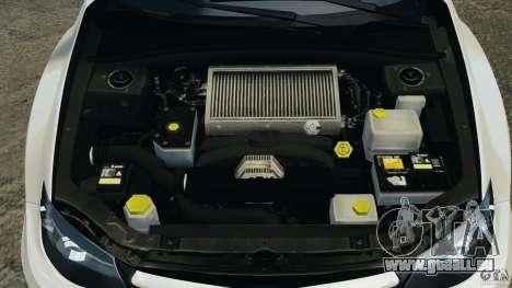 Subaru Impreza WRX STi 2011 G4S Estonia pour GTA 4 Salon