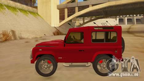 Land Rover Defender für GTA San Andreas linke Ansicht