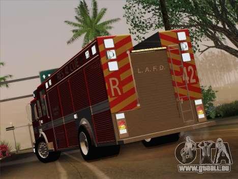 Pierce Contender LAFD Rescue 42 für GTA San Andreas Innenansicht