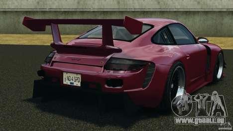 Porsche 997 GT2 Body Kit 2 pour GTA 4 Vue arrière de la gauche