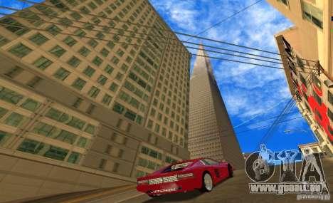Ferrari 512TR für GTA San Andreas zurück linke Ansicht
