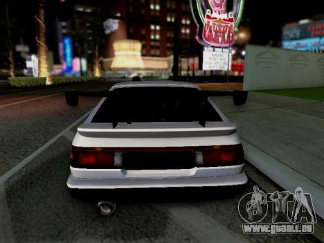 Toyota Sprinter Trueno AE86 GT-Apex Kouki pour GTA San Andreas vue arrière