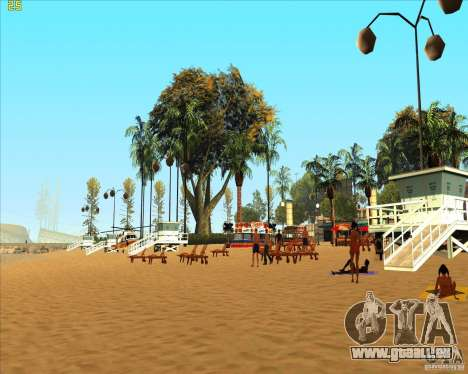 Modern beach in Los-Santos für GTA San Andreas zweiten Screenshot