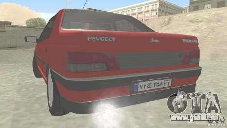 Peugeot RD 1600i pour GTA San Andreas sur la vue arrière gauche
