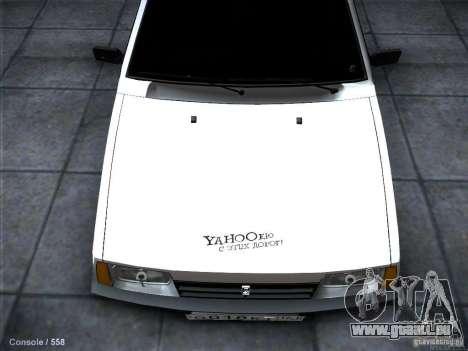 VAZ 2109 Rostow für GTA San Andreas Innenansicht