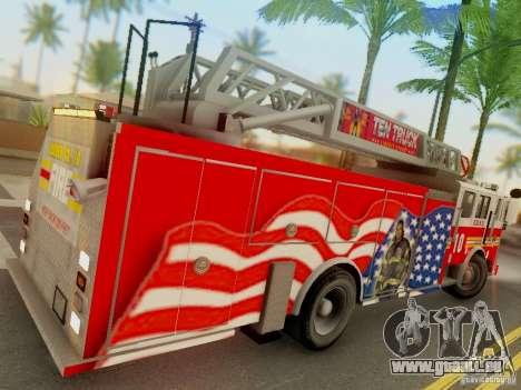 Seagrave FDNY Ladder 10 für GTA San Andreas rechten Ansicht