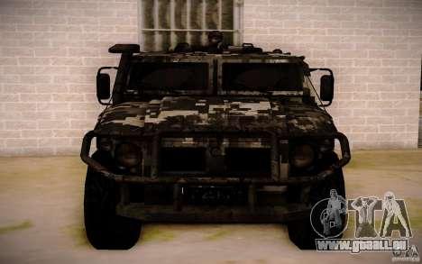 GAZ 2725 de BO2 pour GTA San Andreas sur la vue arrière gauche