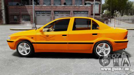 Iran Khodro Samand LX Taxi pour GTA 4 est une gauche