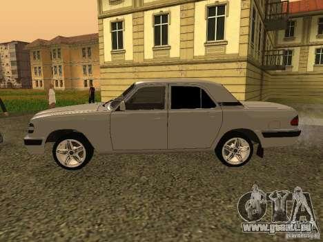 Volga GAZ 3110 pour GTA San Andreas sur la vue arrière gauche