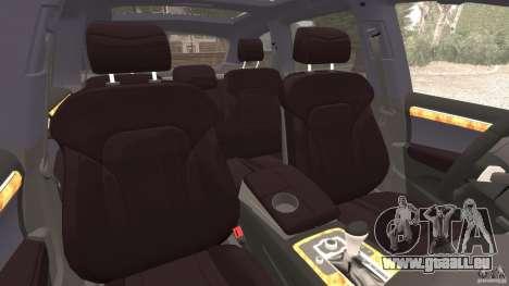 Audi Q7 V12 TDI v1.1 pour GTA 4 est une vue de l'intérieur