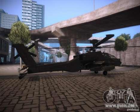 AH-64D Longbow Apache pour GTA San Andreas vue arrière