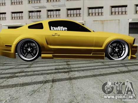 Ford Mustang GT Lowlife pour GTA San Andreas vue de droite