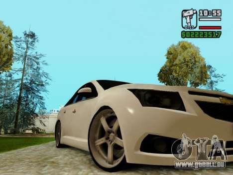 Chevrolet Cruze pour GTA San Andreas vue intérieure