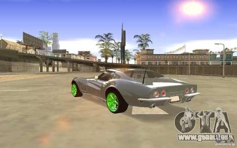 Chevrolet Corvette Stingray Monster Energy pour GTA San Andreas vue intérieure