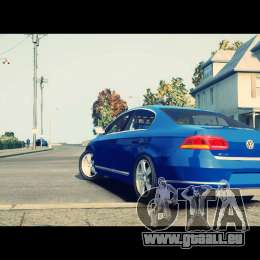 VW Passat B7 TDI Blue Motion für GTA 4 Rückansicht