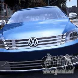 VW Passat B7 TDI Blue Motion für GTA 4 rechte Ansicht
