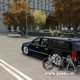 Cadillac Escalade ESV 2012 DUB pour GTA 4 est un côté