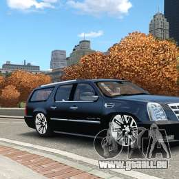 Cadillac Escalade ESV 2012 DUB pour GTA 4 Vue arrière de la gauche