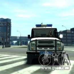 UAZ 31512 Police pour GTA 4 est une gauche