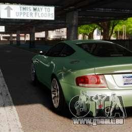 Aston Martin Vanquish 2001 für GTA 4 hinten links Ansicht