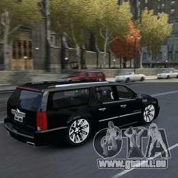 Cadillac Escalade ESV 2012 DUB pour GTA 4 est une vue de l'intérieur