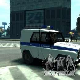 UAZ 31512 Police pour GTA 4 Vue arrière de la gauche