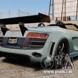 Audi R8 Spider Body Kit pour GTA 4 Vue arrière de la gauche