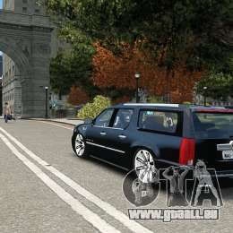 Cadillac Escalade ESV 2012 DUB pour GTA 4 est un droit