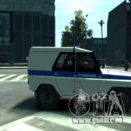 UAZ 31512 Police pour GTA 4 est un droit