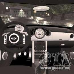 Mini Cooper S v1.3 pour GTA 4 Vue arrière