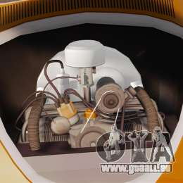 Volkswagen Fusca Edit pour GTA 4 Vue arrière