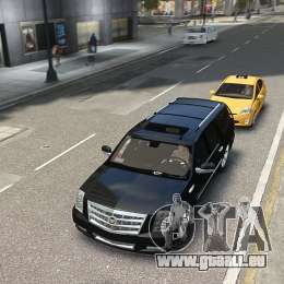 Cadillac Escalade ESV 2012 DUB pour GTA 4 Vue arrière