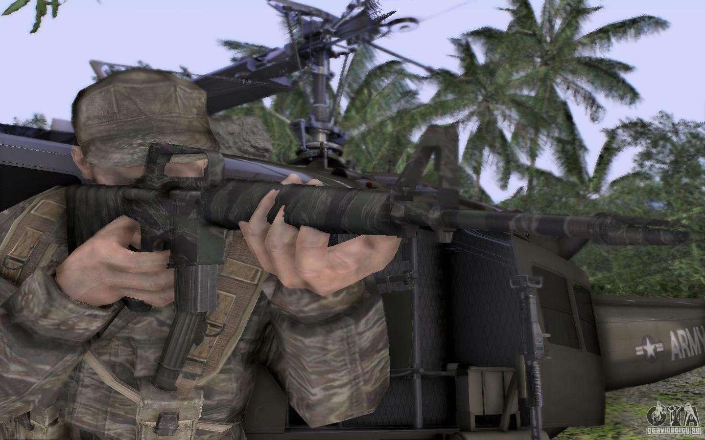 M16A1 Vietnam war pour...