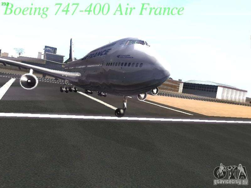 Boeing 747 400 air france pour gta san andreas for Plan de cabine boeing 747 400 corsair