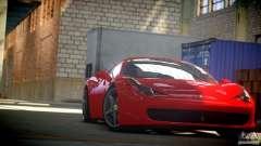 Ferrari 458 Italia 2010 Autovista pour GTA 4