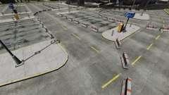Drift-Track am Flughafen