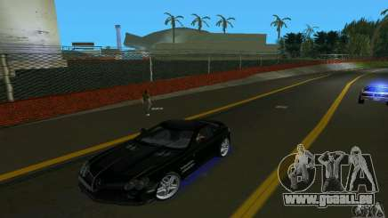 Mercedes-Benz SLR McLaren 722 Black Revel pour GTA Vice City